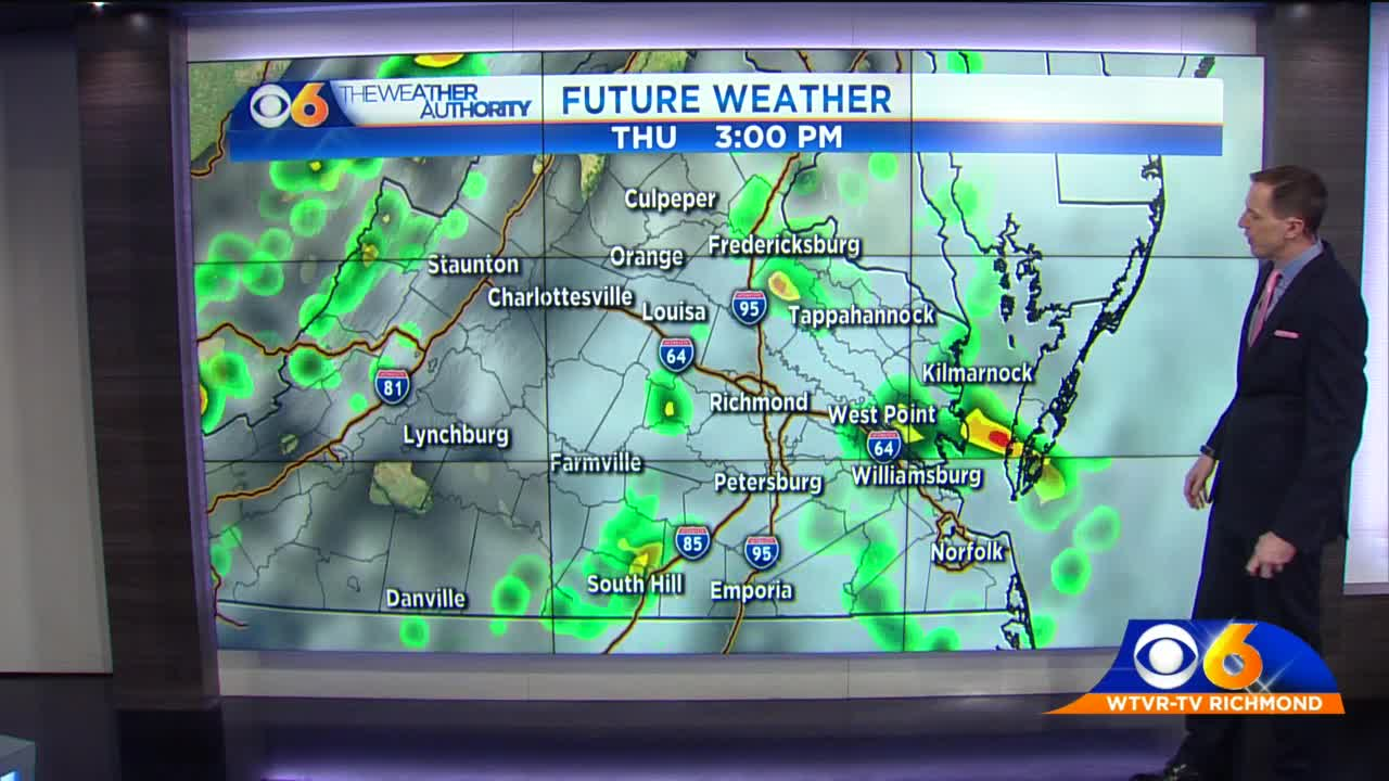 First Alert Weather: Showers and storms again possible today