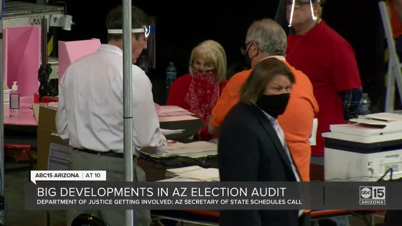 DOJ expresses concerns over audit of Maricopa County election through letter