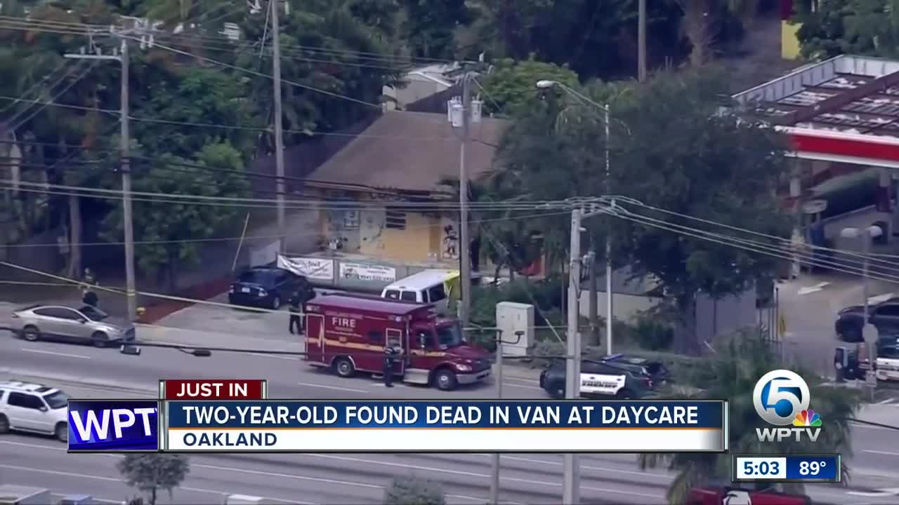 Toddler found dead outside daycare after being left in hot van