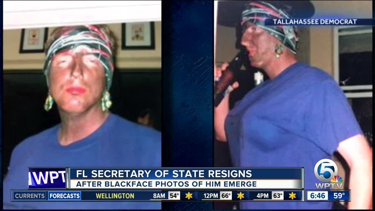 FL. Secretary of State Resigns After Photos of Him in Blackface Surface