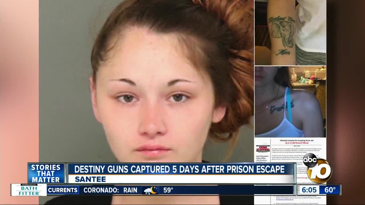 Destiny Guns: Woman who escaped from Las Colinas jail in