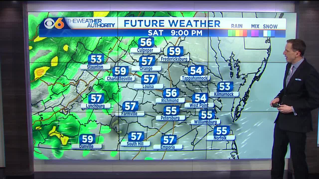 Monday forecast: A warm week ahead with showers/storms tomorrow