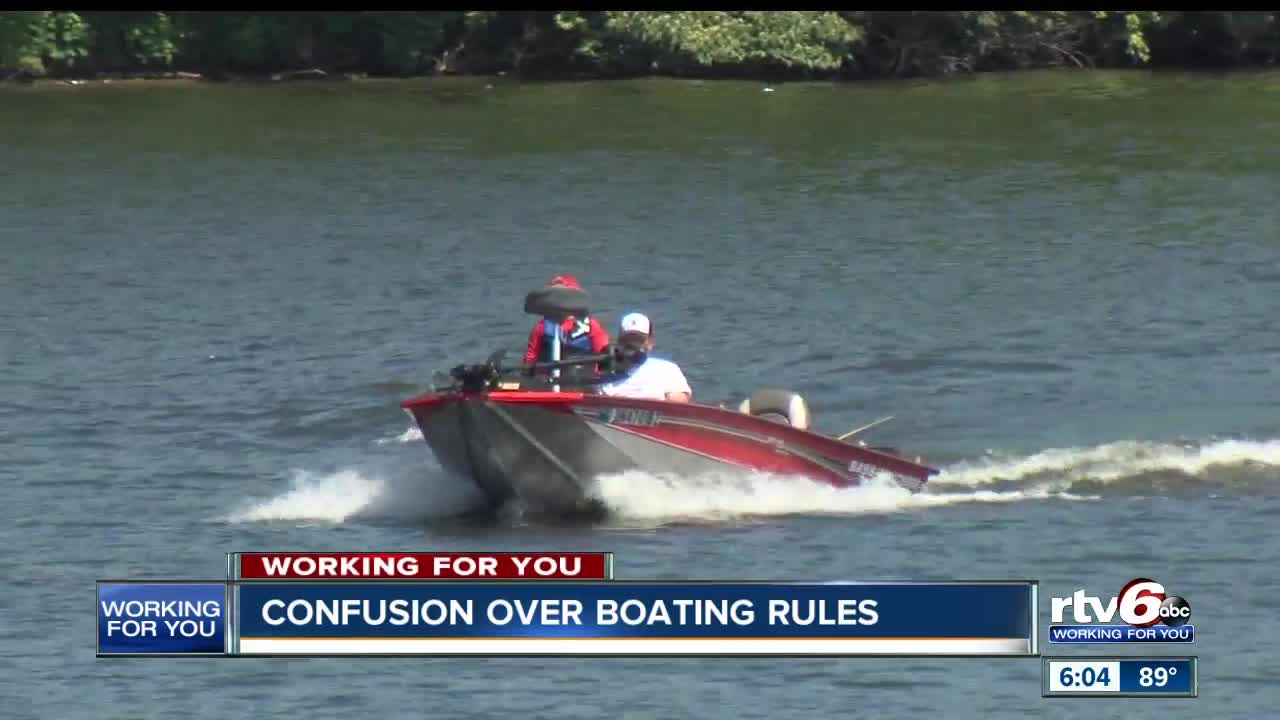 Confusion over boating rules at Eagle Creek