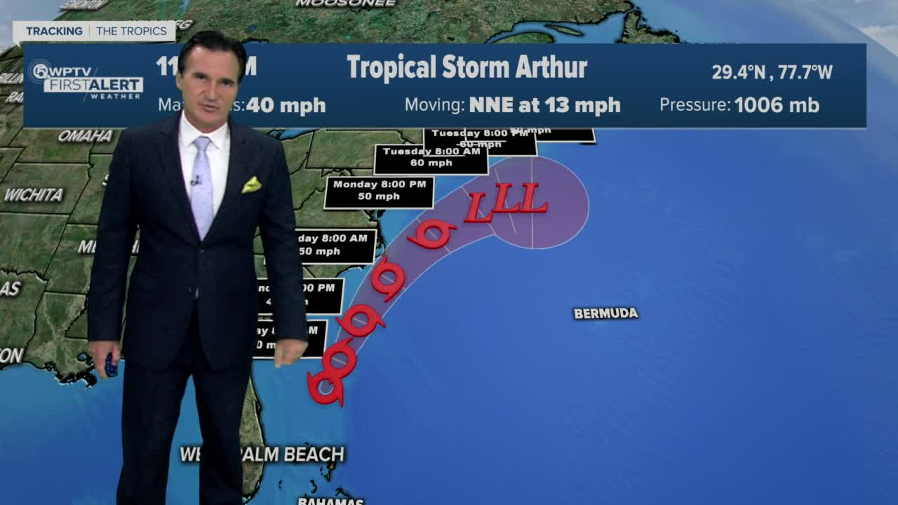 Tropical storm conditions expected Monday along Outer Banks from Arthur