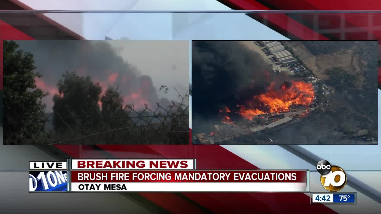 Evacuations lifted after Caliente Fire tears through Otay