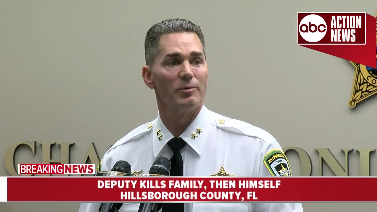 Sheriff: Hillsborough deputy kills family, alerts fellow deputies