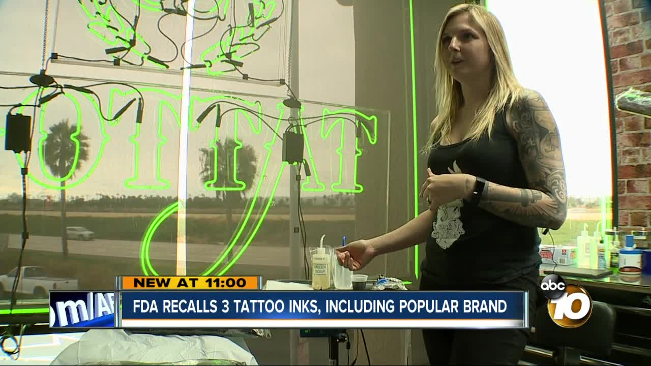 The FDA has recalled several types of tattoo ink after determining they were contaminated with bacteria. Matt Boone reports