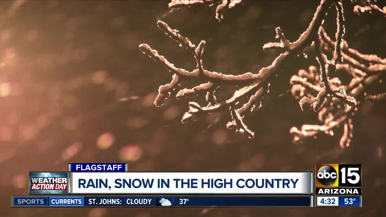 Live Updates Storms Bring Rain To Phoenix Snow To Parts Of Arizona