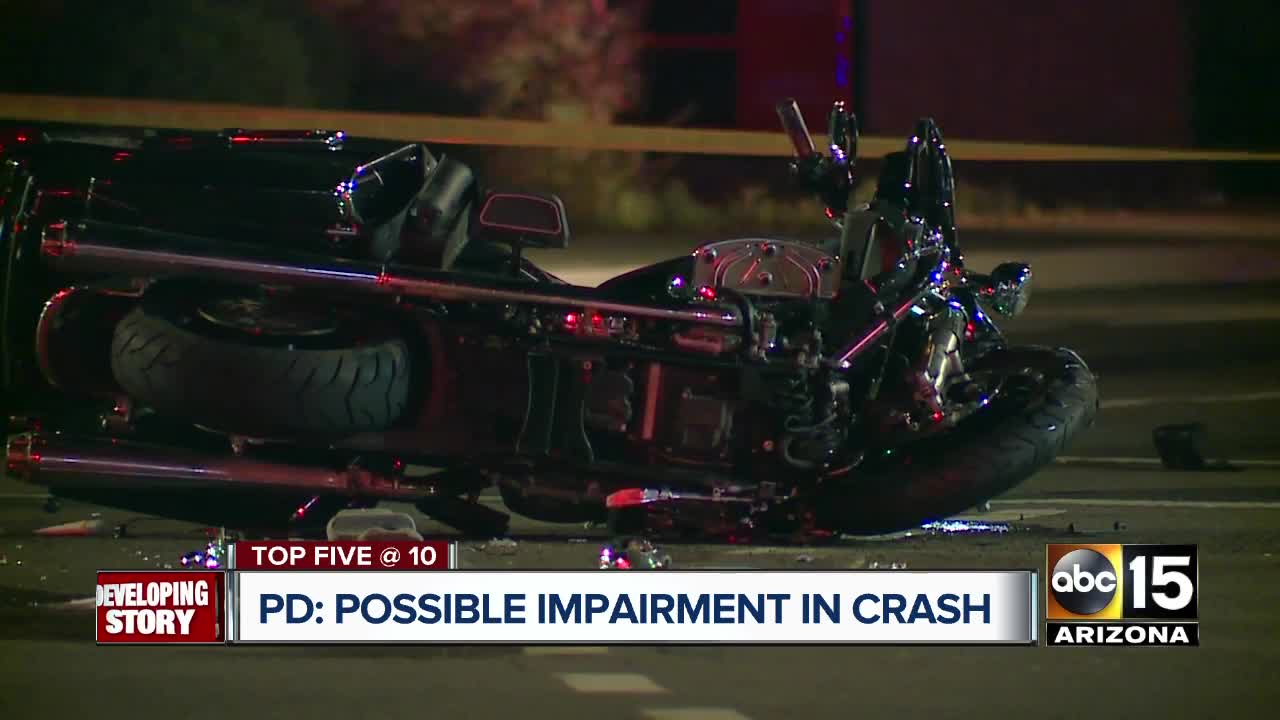 Police: Driver arrested after deadly Phoenix motorcycle crash