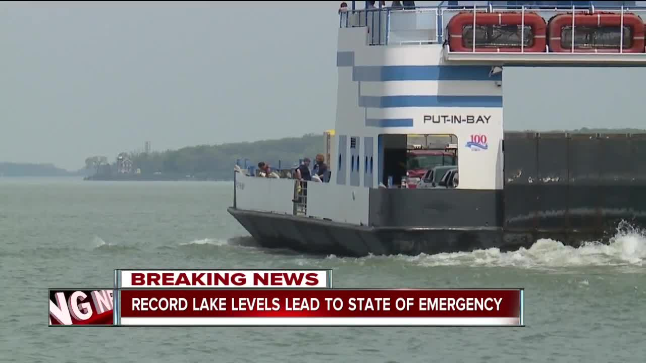 High lake levels cause problems at Port Clinton dock