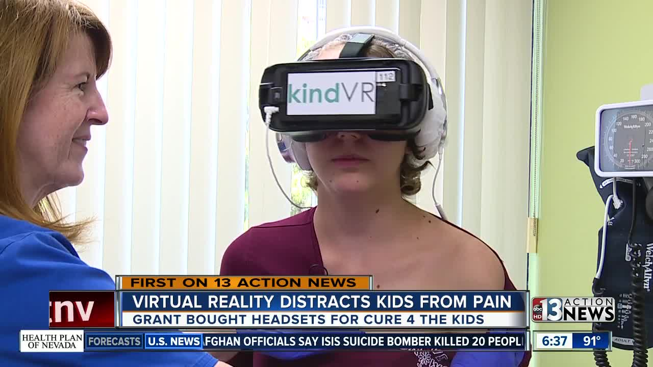 efee718463e7 Virtual reality goggles help ease the pain of cancer treatment for kids