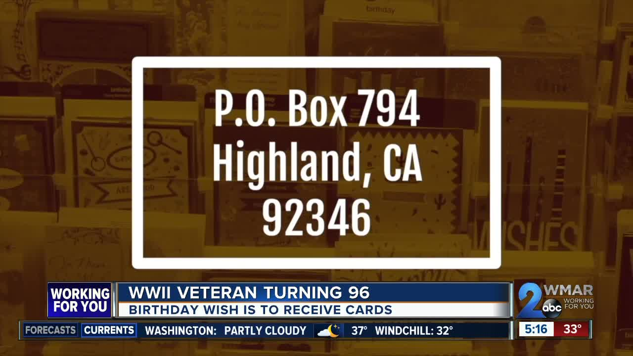 World War II Veteran Wants Birthday Cards For His 96th Birthday