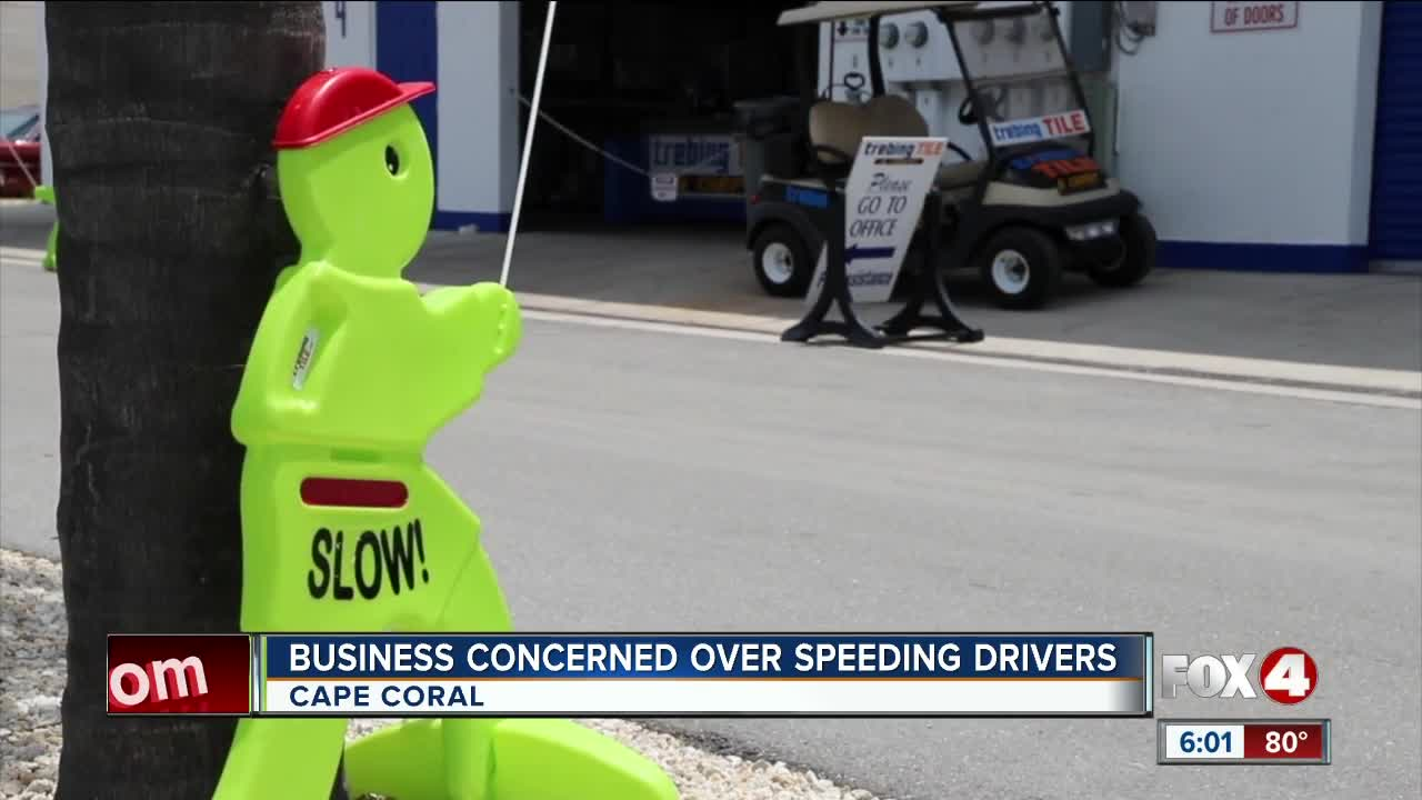 Cape Coral business pushes for speed bumps to slow drivers down in