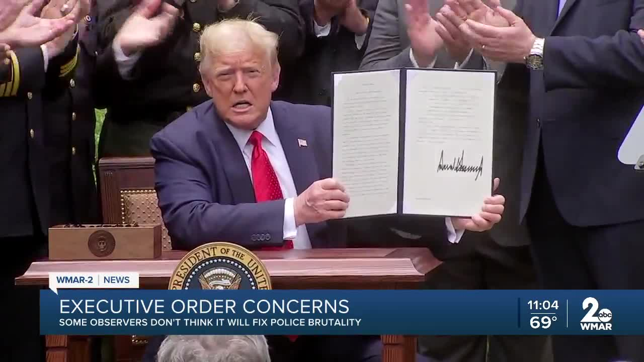 No defunding: Trump's police executive order to ban chokeholds, urge safer policing