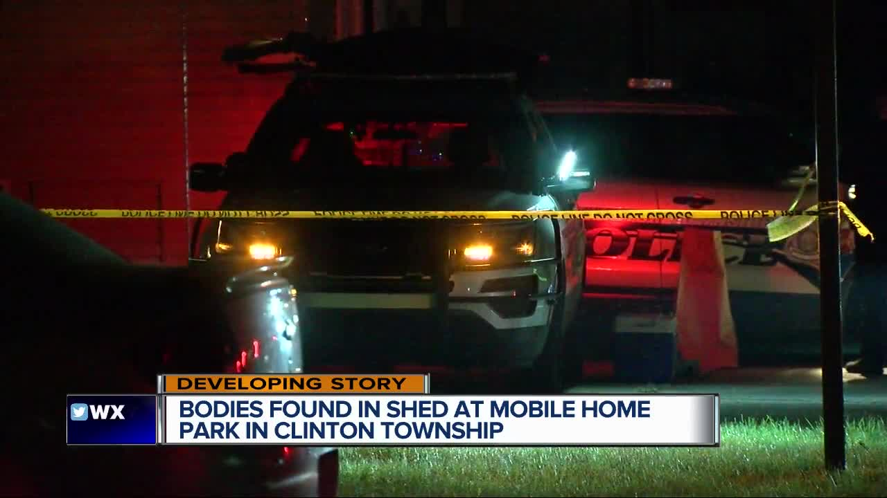 Police investigating double murder at Clinton Township