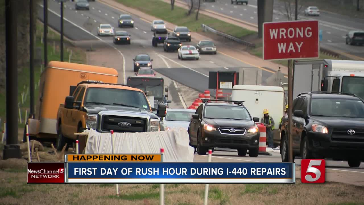 I-440 construction: No major issues during first day of rush