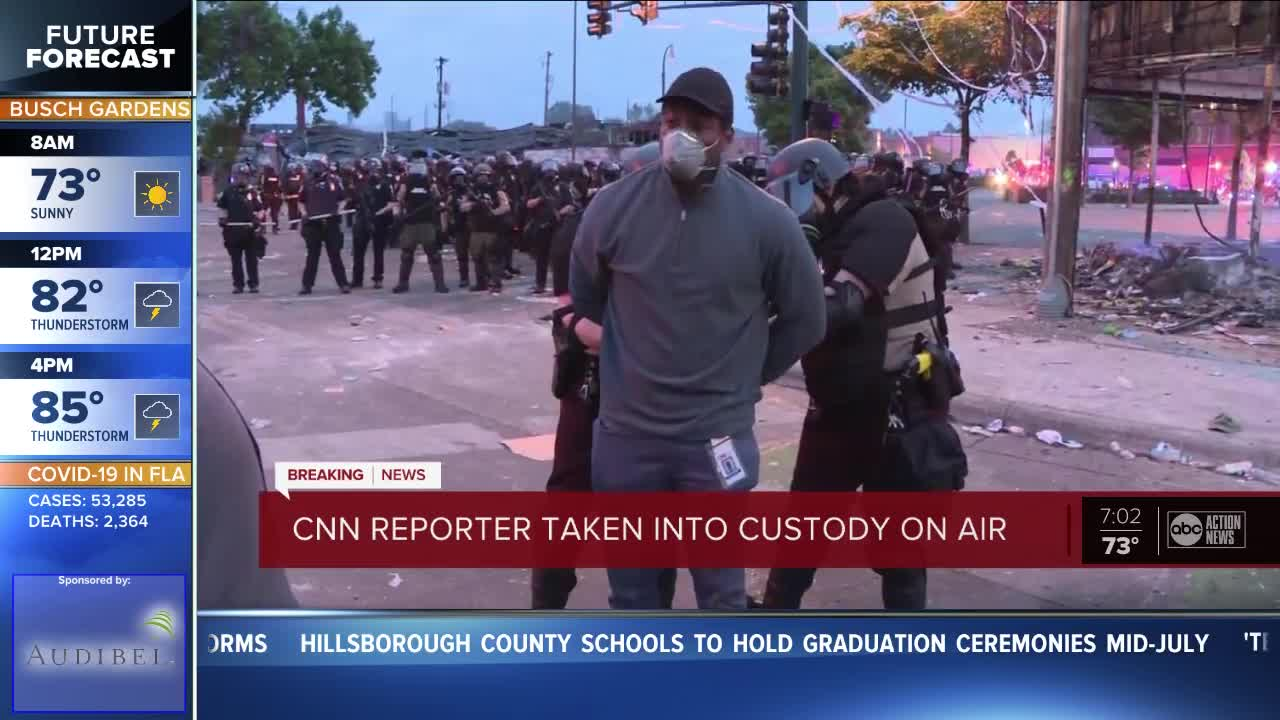 CNN Reporter Omar Jimenez Arrested Live on Air Covering Minneapolis Protests
