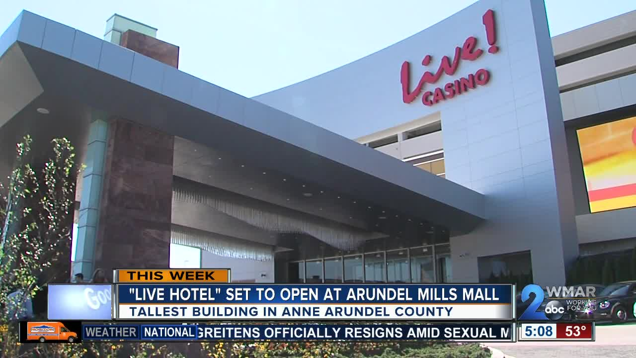 Live Hotel Set To Open At Arundel Mills Mall