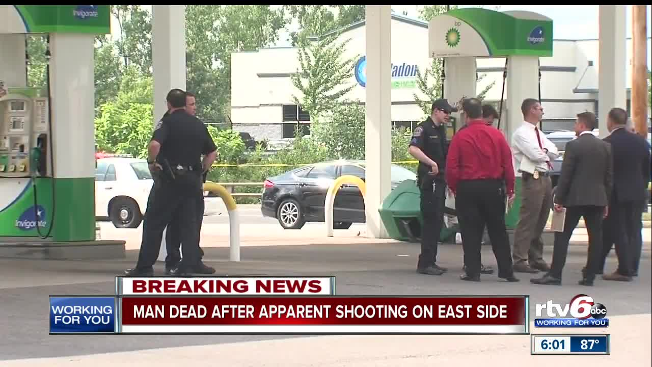 Man found shot in vehicle at BP gas station on Indy's east side dies