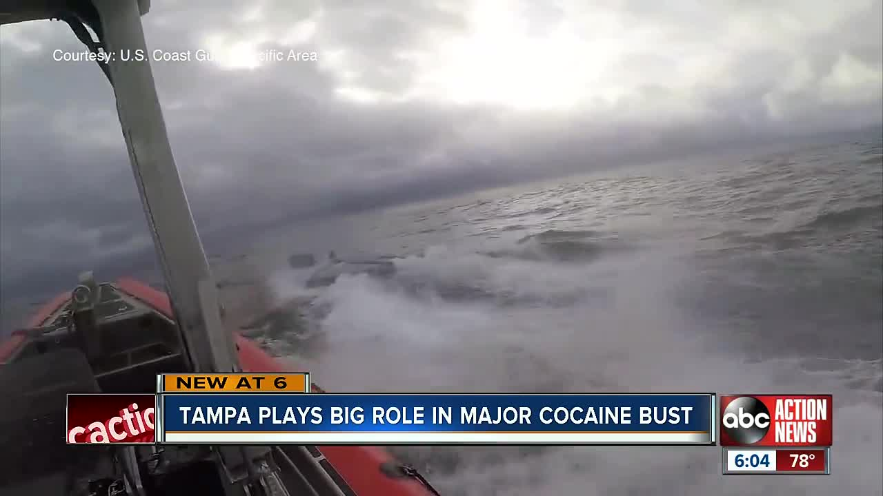 US Coast guardsmen jump onto homemade submarine filled with cocaine