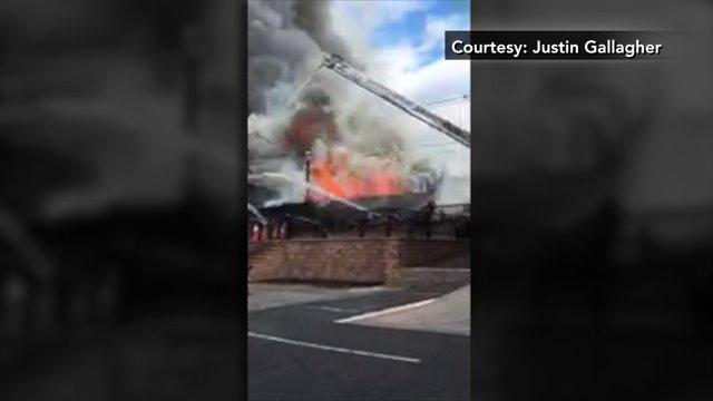 Massive Fire Partially Collapses Building In Keyport Nj 6 Firefighters Injured