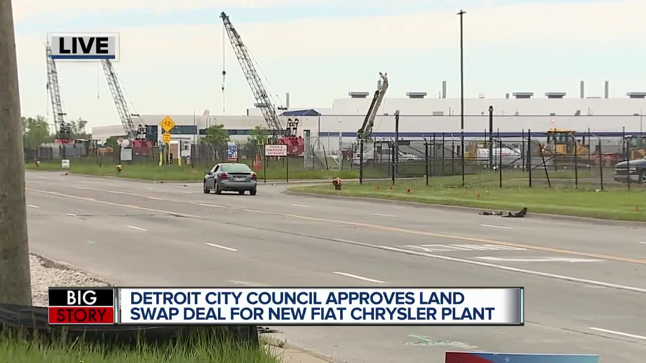 Detroit city council passes Fiat Chrysler land deal