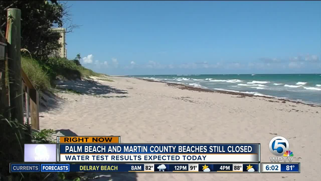 Beaches From Jupiter To Lake Worth Remain Closed Wednesday Because Of Red Tide