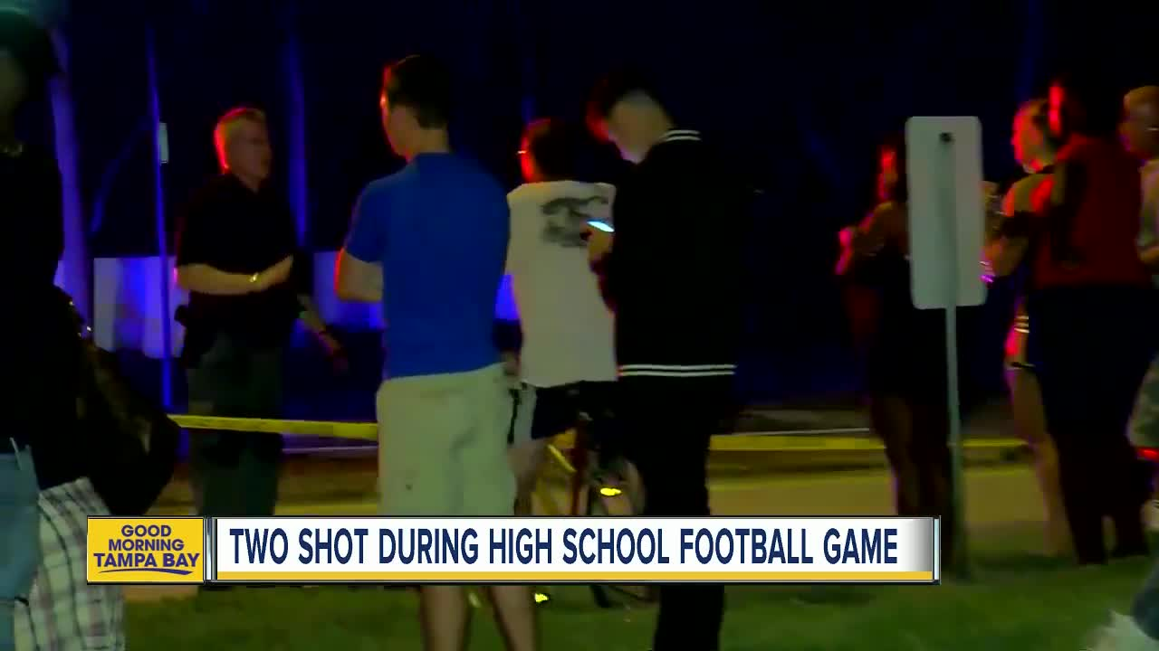 Two people shot during high school football game in West