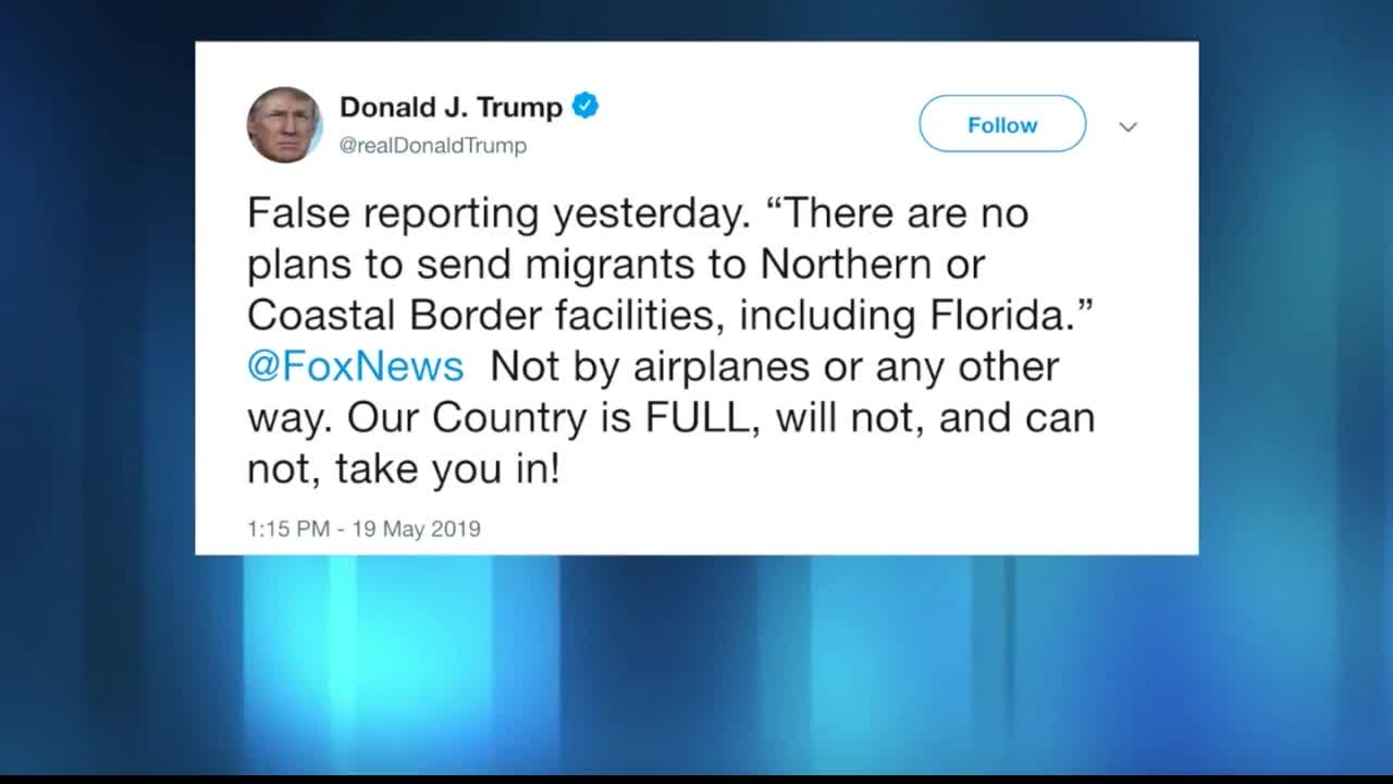 Florida Governor: Trump won't allow flying migrants to state