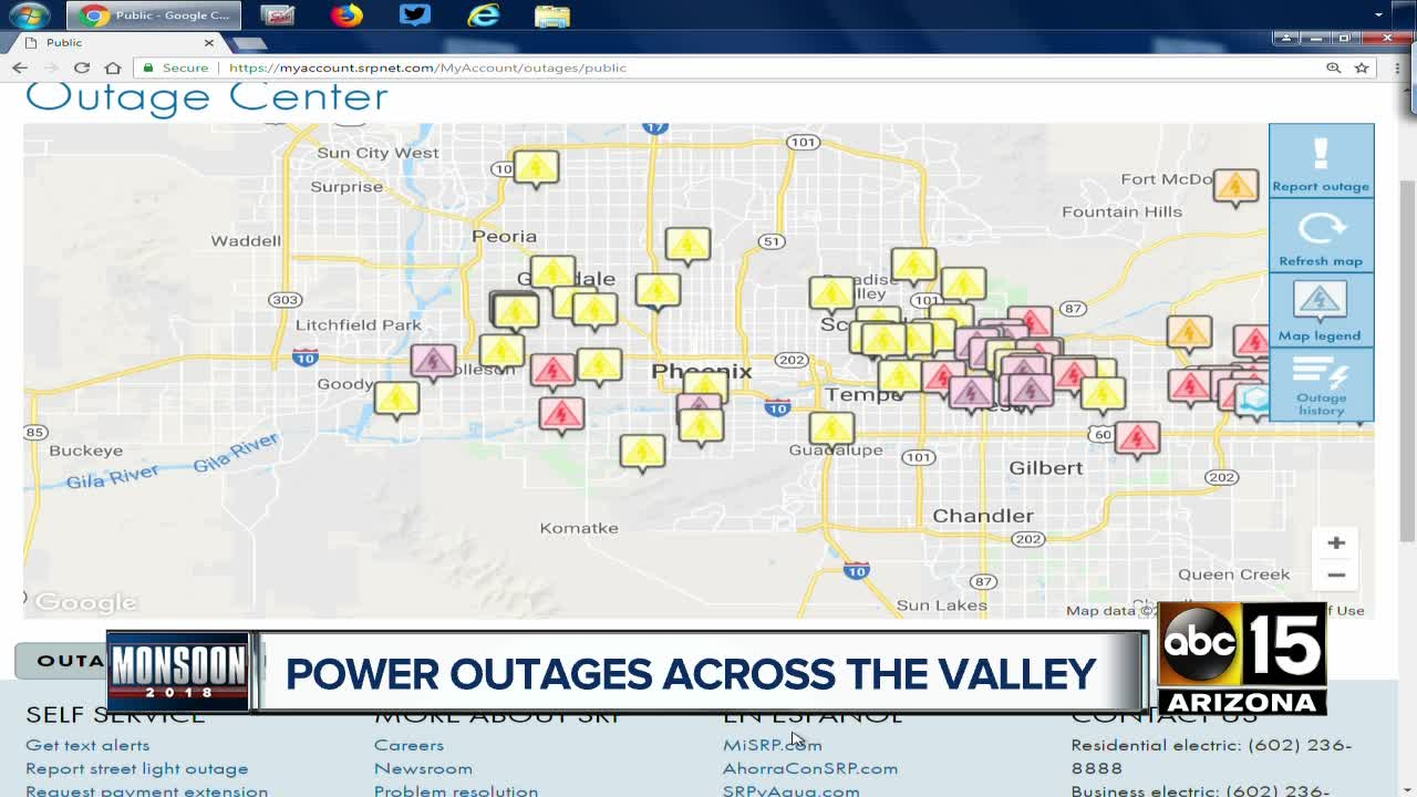 Thousands Of Srp And Aps Customers Without Power Across The Valley
