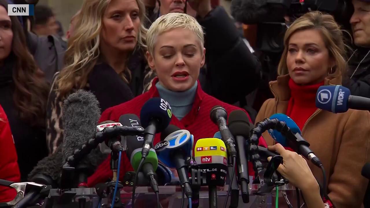 Rose McGowan speaks about the Harvey Weinstein trial