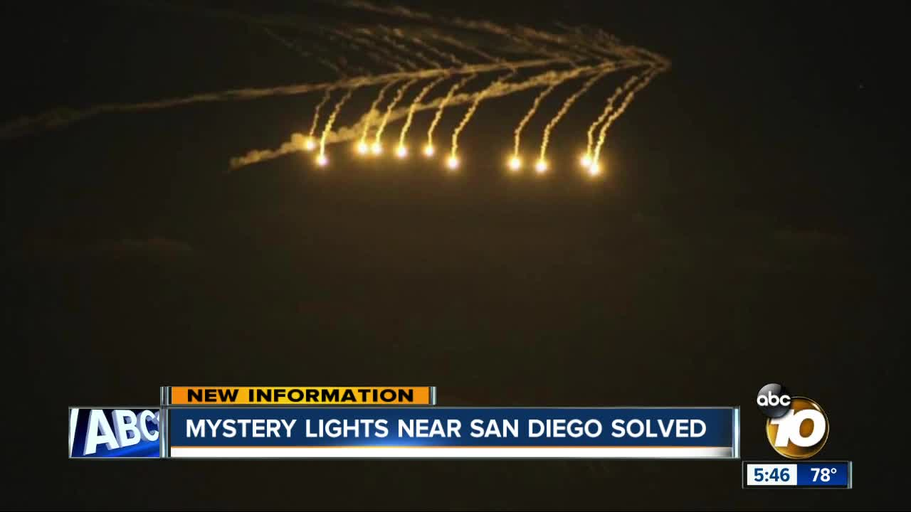 Mysterious Lights In San Diego Sky Navy Says Lights Were Flares