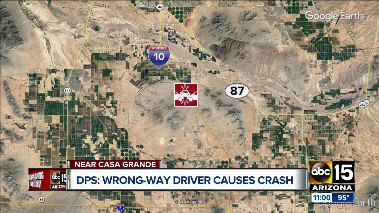 DPS: Wrong-way driver causes crash on I-10 near Casa Grande on highway 82 map, i-10 map, interstate 70 map, i-70 colorado road map, interstate 81 map, interstate 5 map, lincoln way map, interstate 421 map, interstate 27 map, interstate 8 map, interstate 80 map, interstate 20 map, interstate 4 map, interstate 422 map, interstate 75 map, interstate 25 map, interstate i-10, texas map,
