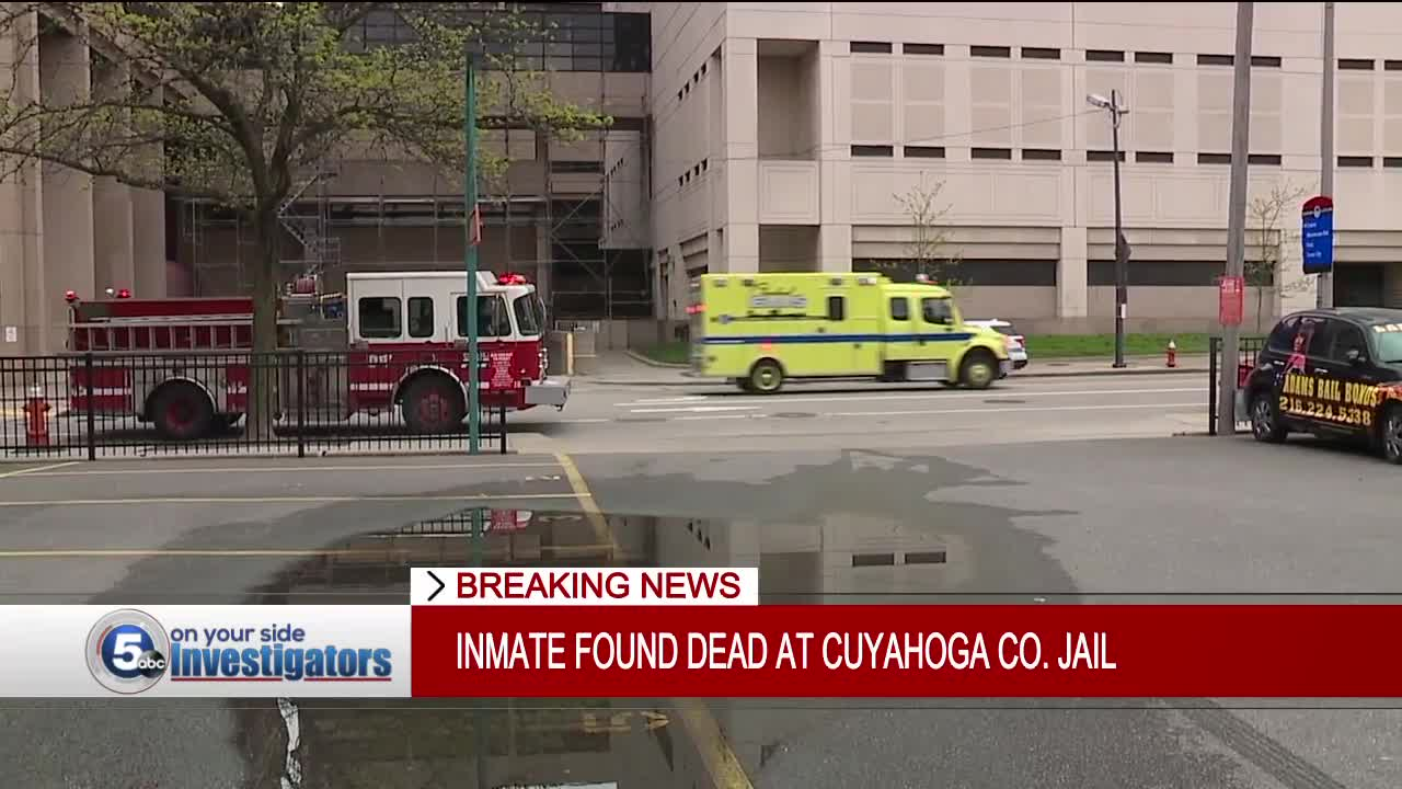 Inmate who died at Cuyahoga County Jail on Friday afternoon identified