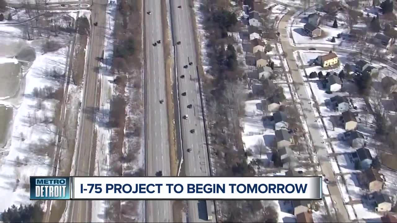 List of detours for phase 2 of massive I-75 construction in