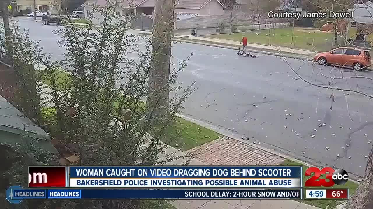 VIDEO: Woman allegedly dragged dog behind electric scooter in
