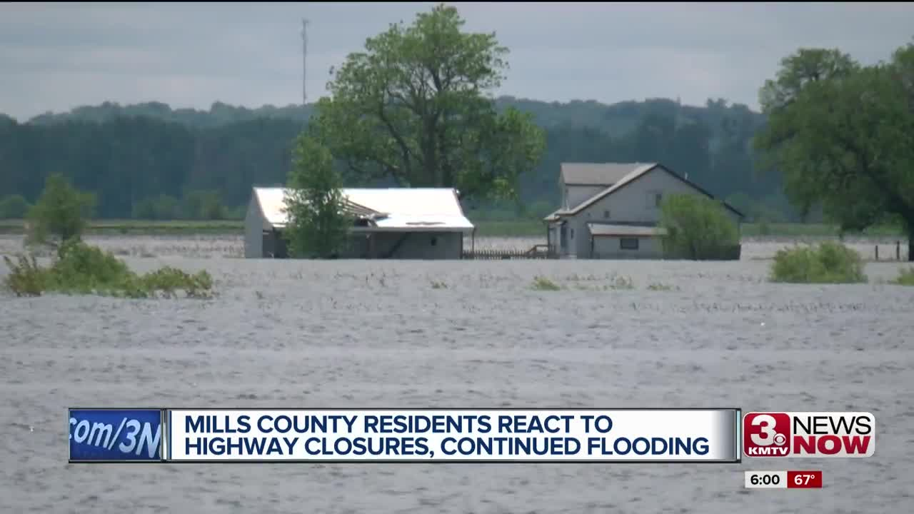 Mills County residents react to highway closures, continued