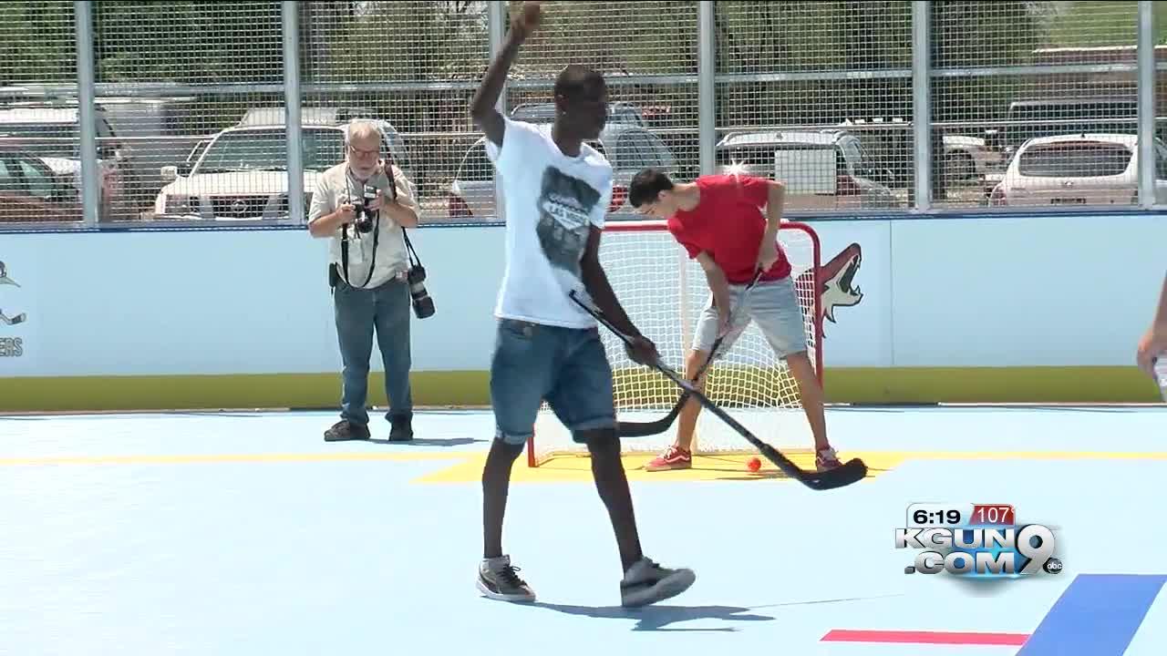 Tucson Roadrunners unveil new DEK hockey rink