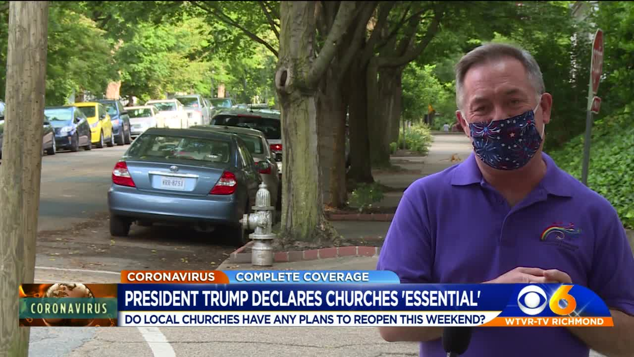 Trump calls churches 'essential,' says governors must reopen during COVID-19 pandemic