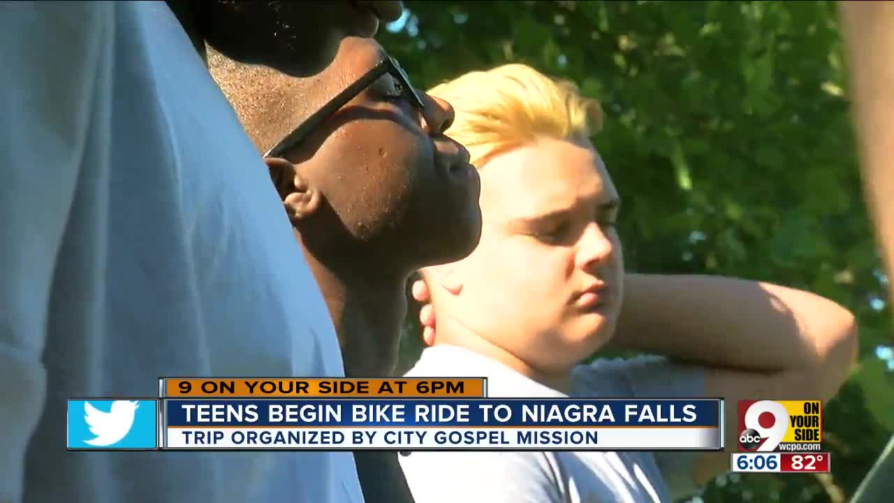 City Gospel Missions Tour De Falls Takes A Group Of At Risk Teens On 519 Mile Bike Ride From Greater Cincinnati To Niagara New York