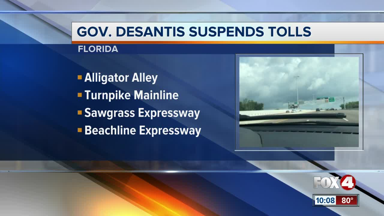 Florida tolls suspended by Governor DeSantis as Hurricane