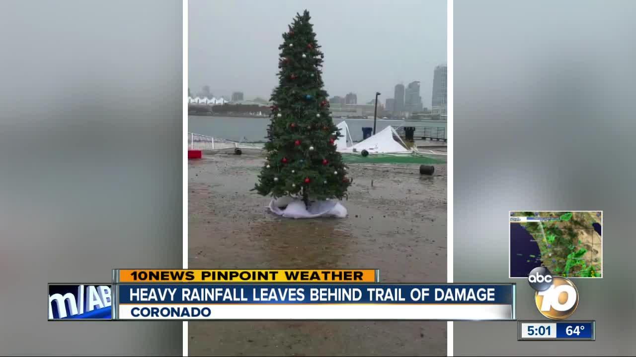 coronado christmas tree farm destroyed by rain. SAN DIEGO (KGTV) — Heavy rains and wind across San Diego County hit one Coronado business particularly hard.