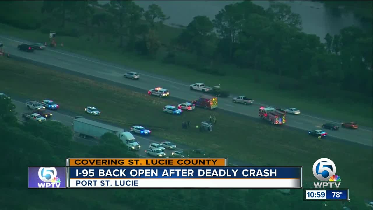Semi driver killed in I-95 southbound crash in St  Lucie County