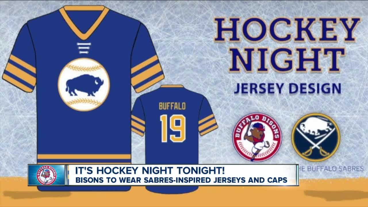 the latest 756ec f56e4 Bisons to wear Sabres' royal blue and gold for 'Hockey Night ...