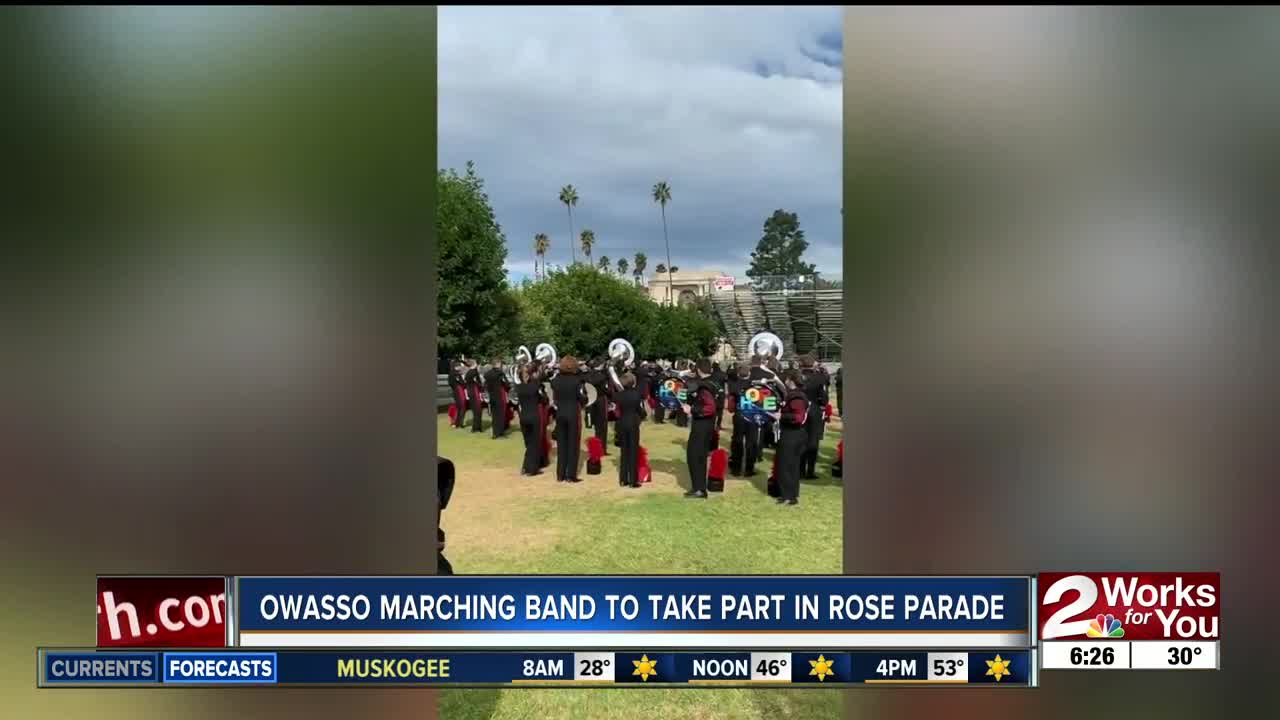 See more photos, videos of Baldwinsville marching band in 2020 Rose Parade