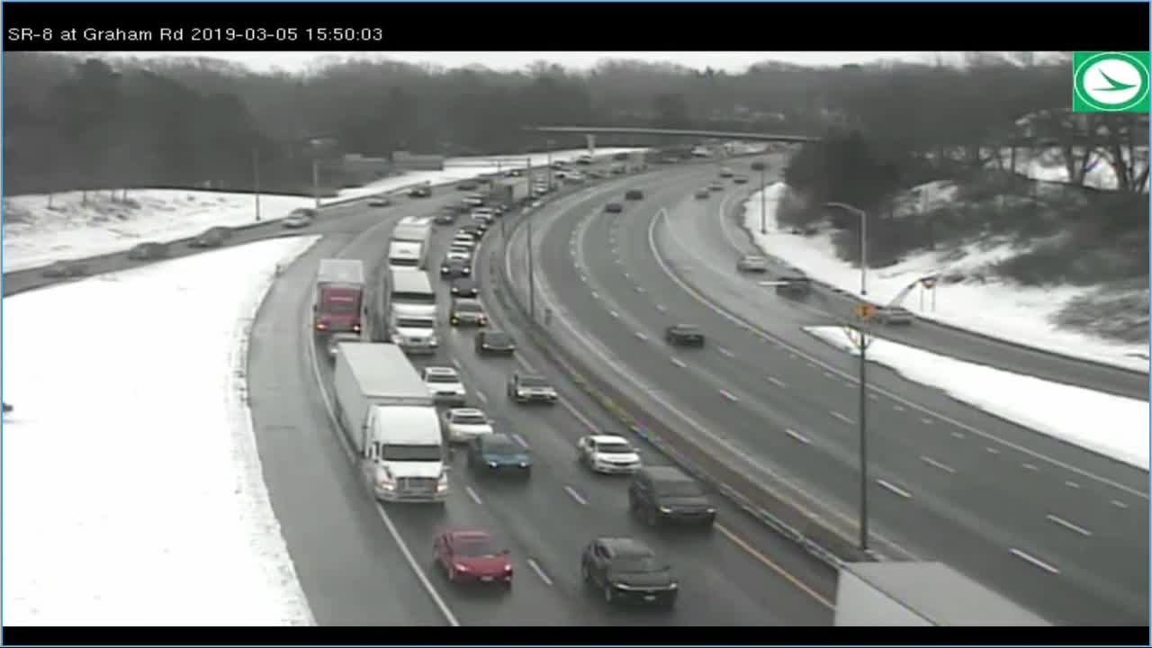 More than 60 car pile-up reported on Route 8 North past