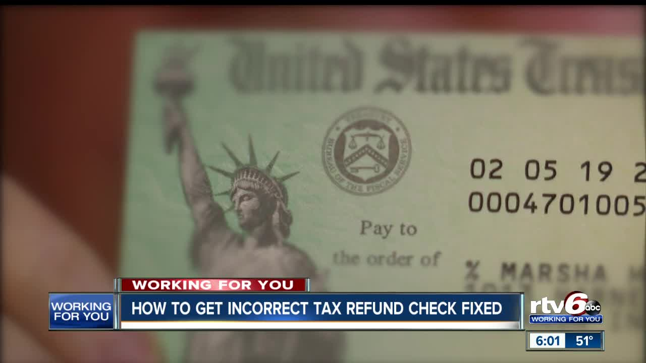 Lebanon woman can't cash refund check due to IRS mistake