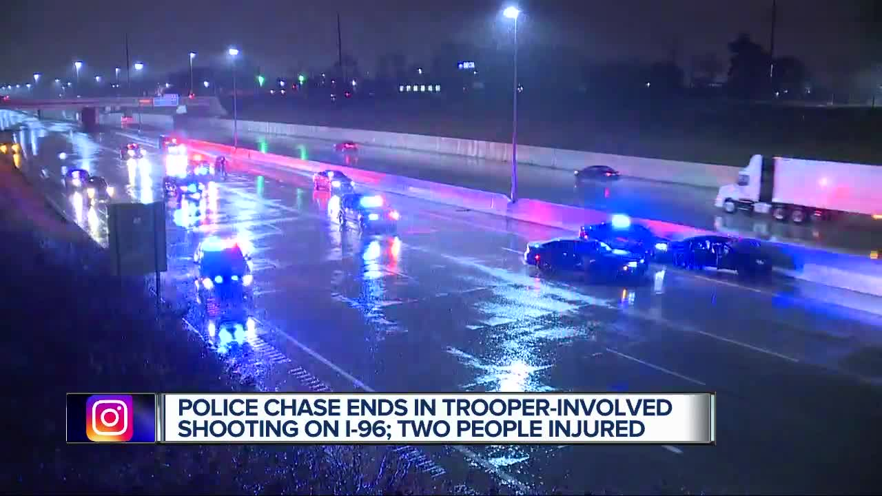 Suspect shot by Michigan State Police trooper after high-speed chase