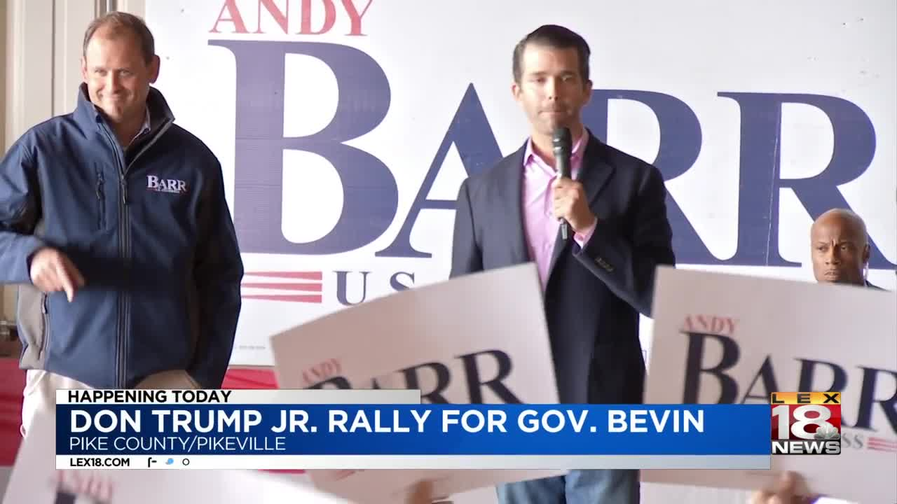 Trump Jr  headlines Kentucky rally to boost Gov  Bevin