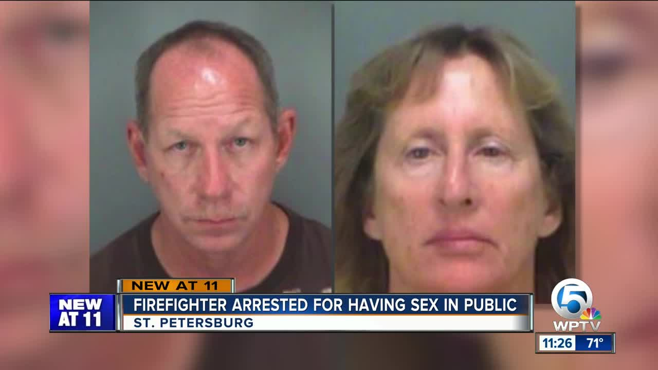 Florida firefighter charged with having sex in middle of road, on hood of  car